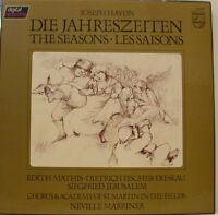 Haydn The Seasons Mathis Fischer-Dieskau Neville Marriner 3-LP Box (d677)
