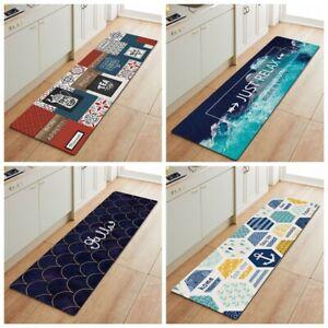 Non-Slip Waterproof Kitchen Door Mat Home Floor Rug Carpet Anti-Oil Easy Clean L