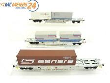 E50D668 Klein Modellbahn M+D H0 Sonderserie 015 Containertragwagen 3-tlg. DB