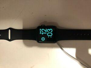 Apple MJ2X2LL/A 38mm Aluminum Case Black Sport Band Watch