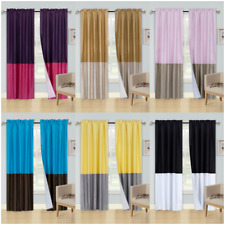 2PC FAUX SILK PANELS SHEER LIGHT FILTERING WINDOW CURTAIN MIX COLOR NEW (ANYY)
