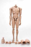 "1/6 Male Body Action Figure Edge Asian Skin Tone Matte MX02-B Fit 12"" Head  Toys"