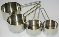 NEW 4 PIECE STAINLESS STEEL MEASURING CUPS SET HANDLES & POURING LIPS APOLLO