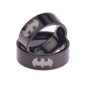 Fashion Men's Ring Black Batman Titanium 316L Stainless Steel Chic Polished Ring