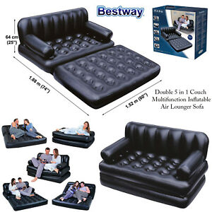 Bestway 5 In 1 Multi Purpose Inflatable Airbed Mattress Double Sofa Couch