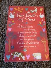 Hallmark Valentine Card For Both Of You Vintage Envelope Unused Animal Flower