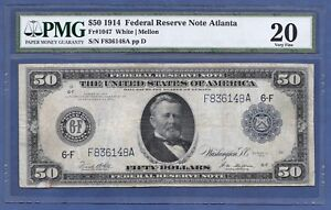 1914 $50 FRN FR-1047  ♚♚ ATLANTA ♚♚ PMG VF 20  ONLY 50 KNOWN!!! RARE NOTE