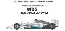 Studio27 1/43 W05 Malesia Gp 2014 Multimedi Kit