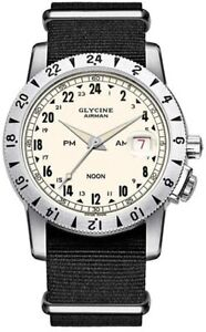 """pre-owned Glycine Airman """"NooN"""" Limited Edition 1000 Purist GL0157 Clean"""