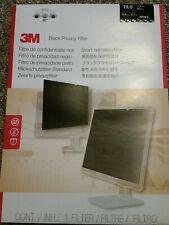 """3M Black Privacy Filter for 19"""" Computer Monitors Widescreen 16:10 Ratio PF19.0W"""
