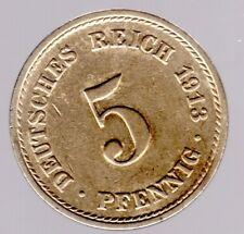 5 Pfennig 1913 A Kaiserreich - Jäger-Nr. 12 - in vorzüglich