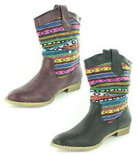 Spot on Women's Textile Mid-Calf Boots