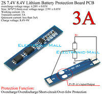 2S 3A 7.4V 8.4V Lithium Cells OverFlow Dis/charge Short-Circuit Protection Board
