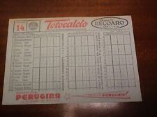 C. O. N. I.  SCHEDINA TOTOCALCIO DEL 16/12/1956