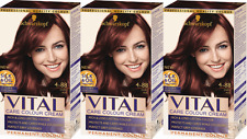 Schwarzkopf Vital Colours 3-0 Dark Brown Permanent Hair Colouring Dye X3