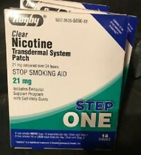 Rugby 21 mg Clear Nicotine Transdermal Patch Step 1 Unopened 2 Boxes 28 Patches
