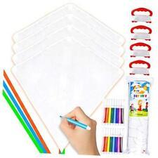 4 Packs Diy Diamond Kite with Watercolor Pen Easy to Fly Beginner Kites for