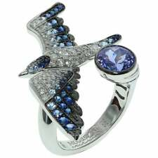 1.9 Carat Highly Detailed 925 Sterling Silver Seagull Shape Women's Silver Ring