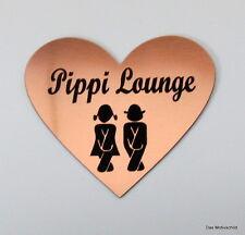Pippi Lounge,Gravur,Türschild,7 x 6 cm,Toilettenschild,WC,Schild,Damen,Herren