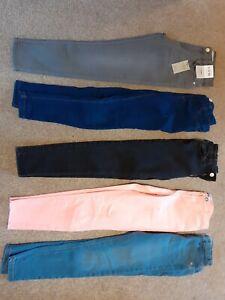 Girls Skinny Jeans Bundle Age 9-10 Years . 5 pairs
