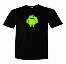 Android T-Shirt   Eats Apple Nerd/Computer Geek Cell Phone
