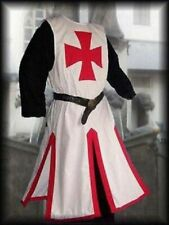 New Medieval Viking Red Color Templar White Color Tunic For Armor Sleeveless