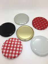Tarro de Mermelada Tapas 82 mm desenrosque-en elección de colores-paquete de 100