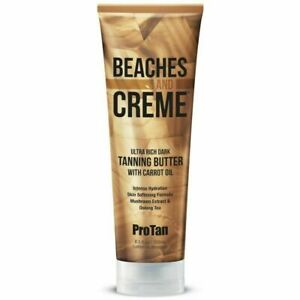 Pro Tan BEACHES AND CREME Ultra Tanning Butter With Carrot Oil + Sunbed Goggles