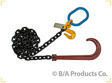 G8-3810JOG Chain with 15″ J Hook; Grab Hook & Master Link