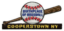 "COOPERSTOWN NEW YORK BIRTHPLACE OF BASEBALL 3.5"" SOUVENIR PATCH"