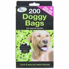 200 Scented Doggy Poo Bags Dog Cat Waste Poop Easy Tie Handles Pooper Scooper