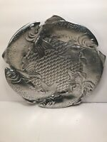 ARTHUR COURT CAST ALUMINUM FISH PLATE YEAR 1993 FISH AND SCALES DESIGN YEAR 1993