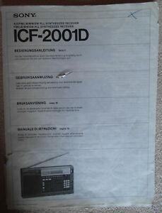 SONY ICF-2001D Bedienungsanleitung - gebraucht mit Knicken
