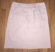 Nic + Zoe Beige Stretch Linen Blend A Line Skirt Size 4 Exposed Back Zipper