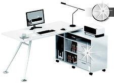 Sixbros. mesa de ordenador lustre blanco - Ct-3366am/73