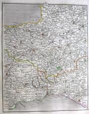 SOMERSET DEVON DORSET  TAUNTON BRIDPORT  BY JOHN CARY GENUINE ANTIQUE MAP  c1794