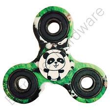 Green Panda Tri-Wing Fidget Finger Spinner Hand Focus EDC Steel Bearing UK