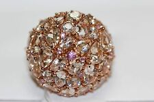 .925 Rose Vermeil / Pink Sapphire / Morganite Ring .