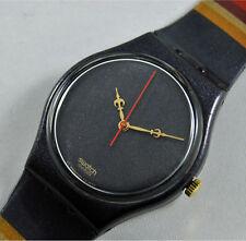 swatch gent vintage royal granit gv109 orologio nero rarissimo anni90 nuovo rare
