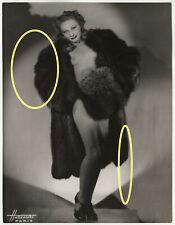 24x18cm Älteres Foto Studio Harcourt Burlesque Nackt Akt Revuegirl Paris photo 2