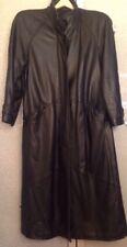 Women's Small LNR Black Leather Coat