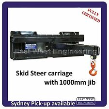 SKID STEER QUICK HITCH CLASS 2 CARRIAGE 2500kg with 1000mm JIB (800kg) Certified