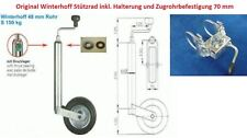 Stützrad mit Halterung u. Befestigung für PKW Anhänger Wohnwagen Neu L4111.70R
