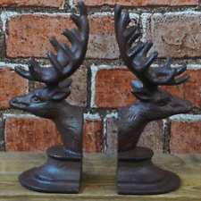 Iron Deer Head Book Ends,Pair of Bookends,Book Ends,Book Ends,Unique bookends