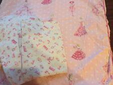 Pottery Barn Kids VINTAGE BARBIE Twin 4p LOT Duvet Cover Sheets & Pillowcase Set