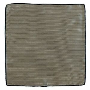 New SANTOSTEFANO Handmade Beige Striped Silk Pocket Square Handkerchief $150