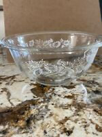 Pyrex Colonial Mist Nesting Mixing Bowl Clear with White Daisy # 325 1 Liter