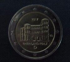 """2 euro especial-moneda """"d"""" Rheinland-Pfalz Porta Nigra 2017 de circulación"""