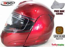 Cascos brillantes de motocicleta para conductores de mujer