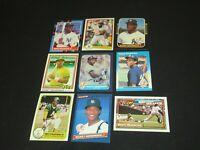 Baseball Cards RICKEY HENDERSON 9 card lot OLDEST 1981 NY Yankees Oakland A's